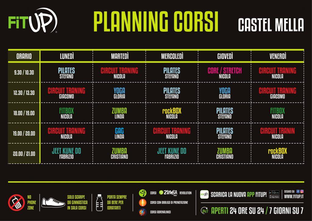 Planning Corsi Castel Mella